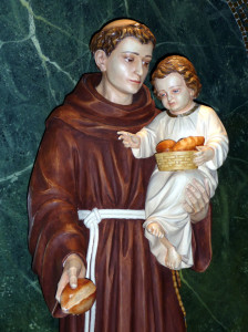 Saint Anthony and bread