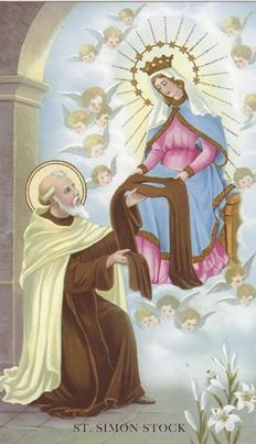 saint Simon and our lady of mount Carmel