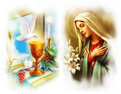 التناول الروحي مع مريم
