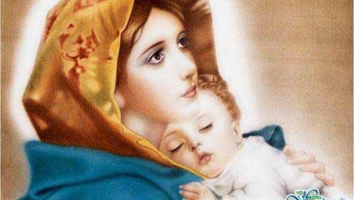 مريم العذراء والطفل يسوع
