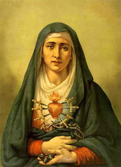 عيد مريم سيدة الاحزان السبعة